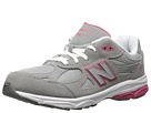 New Balance Kids KJ990G (Big Kid) (Grey/Pink) Girls Shoes