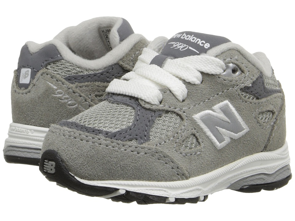 New Balance Kids - KJ990I (Infant/Toddler) (Grey) Kids Shoes