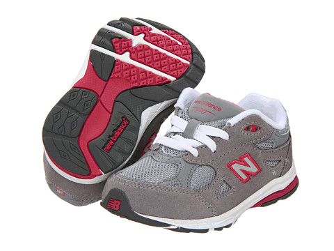New Balance Kids - KJ990 (Infant/Toddler) (Grey/Pink) Girls Shoes