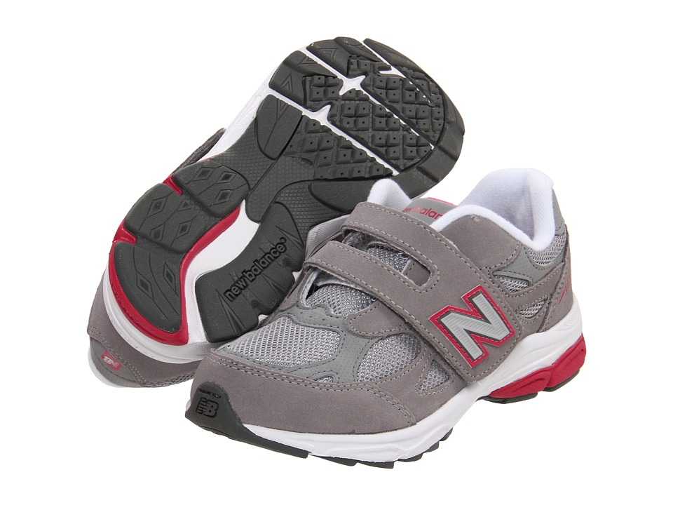 New Balance Kids - KV990P (Little Kid) (Grey/Pink) Girls Shoes