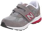 New Balance Kids KV990P (Little Kid) (Grey/Pink) Girls Shoes