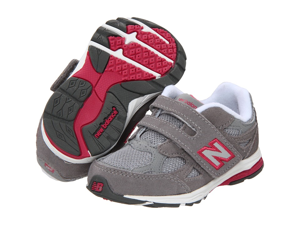 New Balance Kids KV990 (Infant/Toddler) (Grey/Pink) Girls Shoes