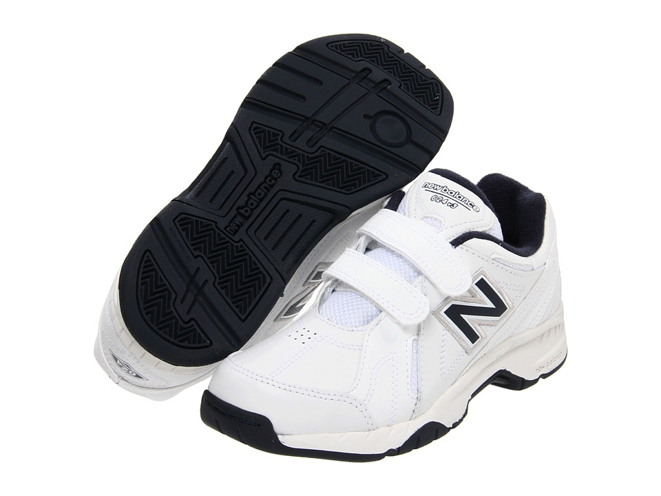 New Balance Kids - KV624Y (Little Kid/Big Kid) (White/Navy) Kids Shoes