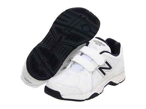 New Balance Kids - KV624Y (Little Kid/Big Kid) (White/Navy) Kids Shoes