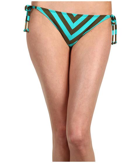 Ella Moss - Calypso Stripe Tie Side Pant (Olive) Women