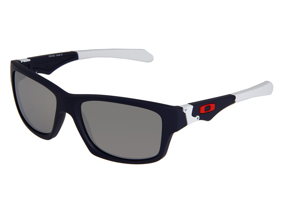 Oakley - Jupiter Squared Iridium (Matte Navy/Chrome Iridium Lens) Athletic Performance Sport Sunglasses