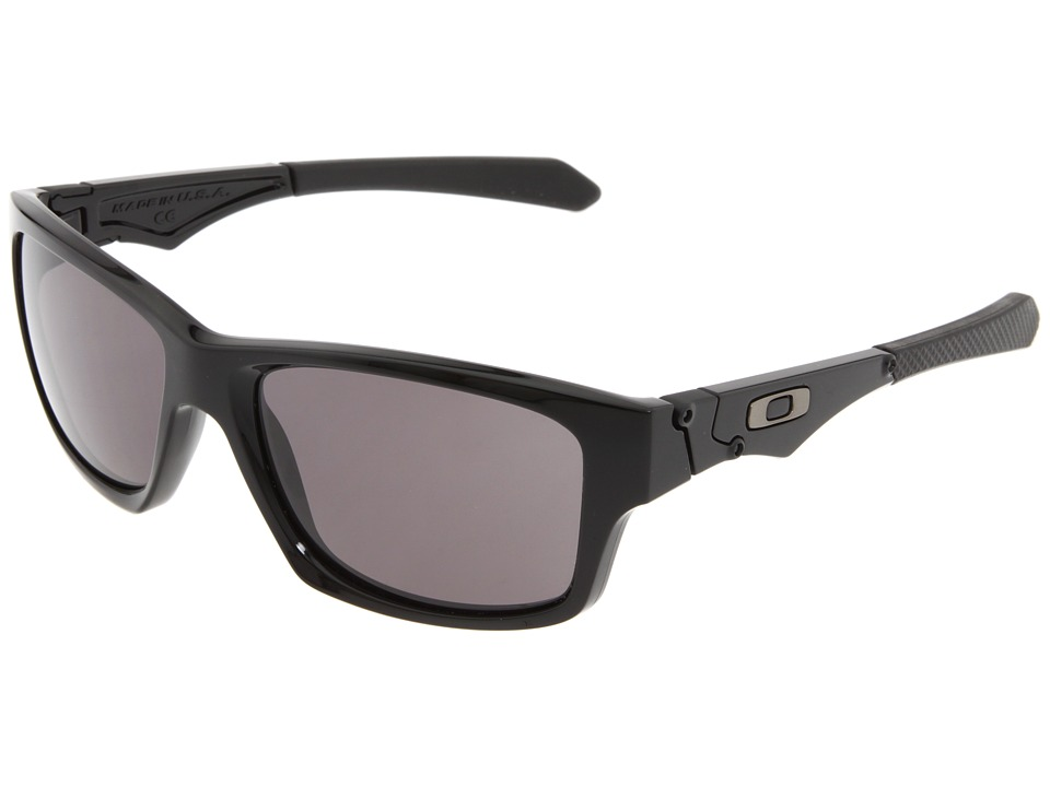Oakley - Jupiter Squared (Polished Black/Warm Grey Lens) Athletic Performance Sport Sunglasses