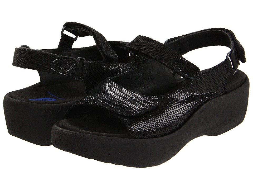 Wolky - Jewel (Black Snake Print) Women's Sandals