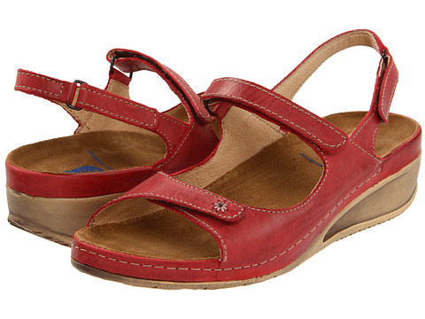 Wolky - Tsunami (Red Cartago Leather) Women's Sandals