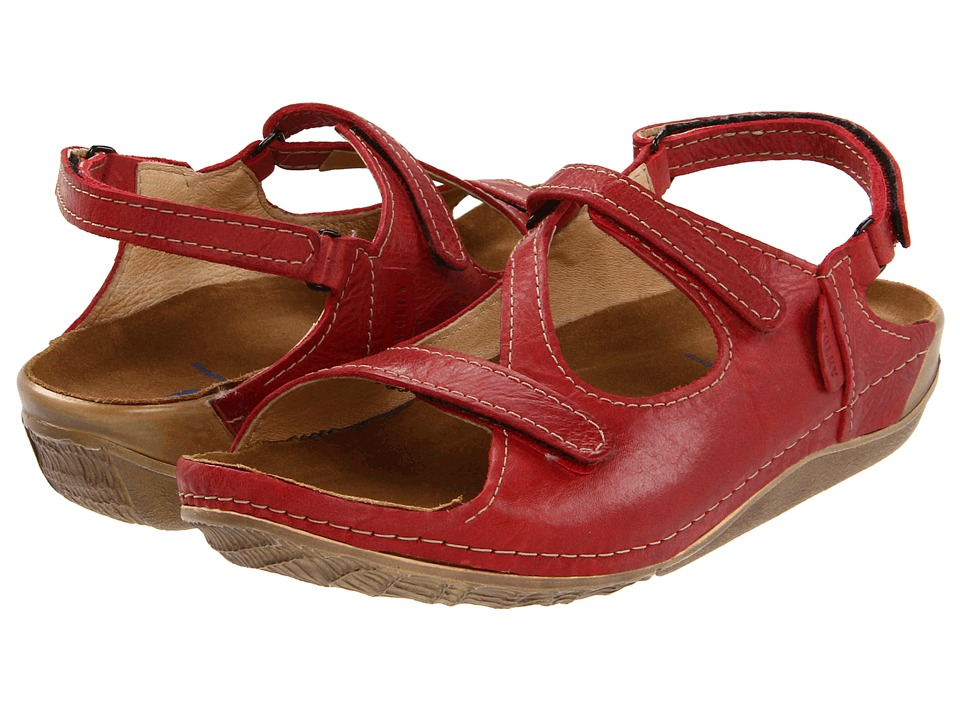 Wolky - Leif (Red Cartago Leather) Women's Sandals