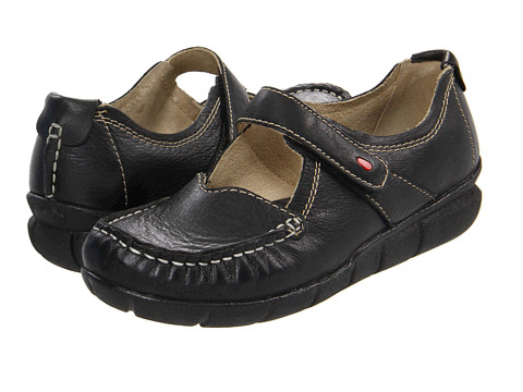 Wolky - Ojibwa (Black Italian Softy Leather) Women's Hook and Loop Shoes