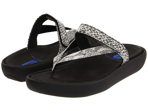 Wolky - Serenity (White/Black Snake Print) Women's Sandals
