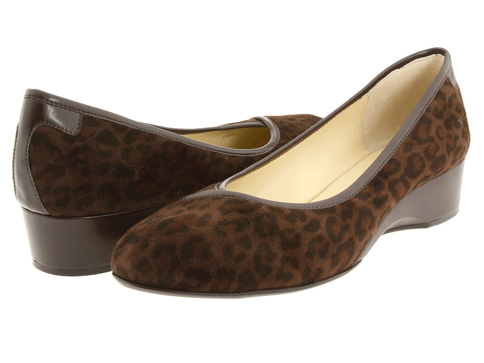 Taryn Rose - Felicity (Leopard Stretch) Women's Wedge Shoes