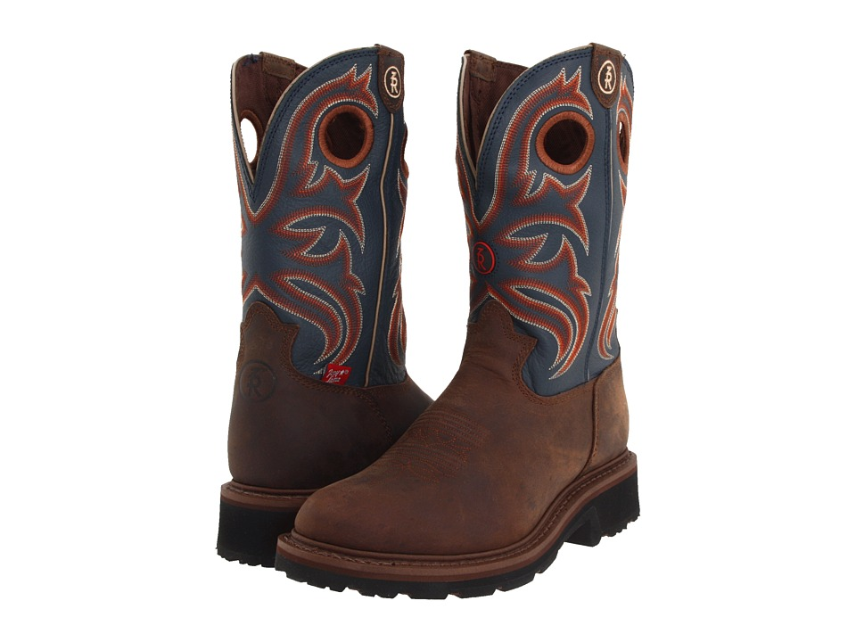 Tony Lama - RR3208 (Oak Crazy Horse/Cadet Blue) Men's Work Boots