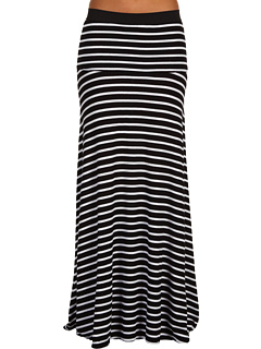 SALE! $104.99 - Save $33 on BCBGMAXAZRIA Striped Karolin Maxi Skirt (Black White Combo) Apparel - 23.92% OFF $138.00