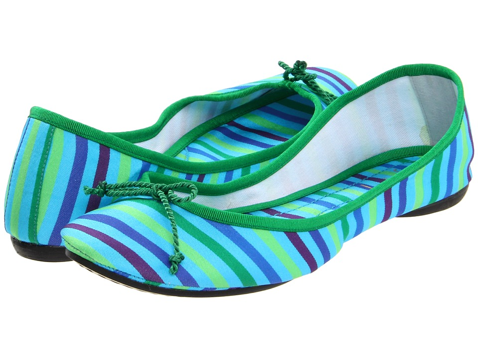 French Sole - Foxy (Turquoise Stripe) Women's Flat Shoes