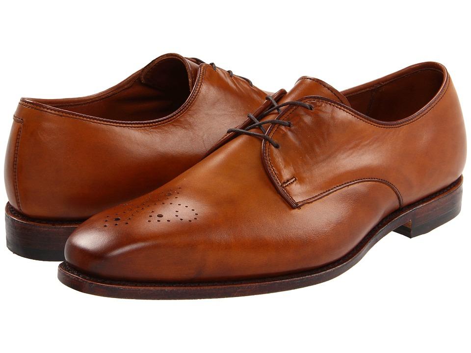 Allen-Edmonds - Flatiron (Walnut Burnished Calf) Men's Lace Up Wing Tip Shoes