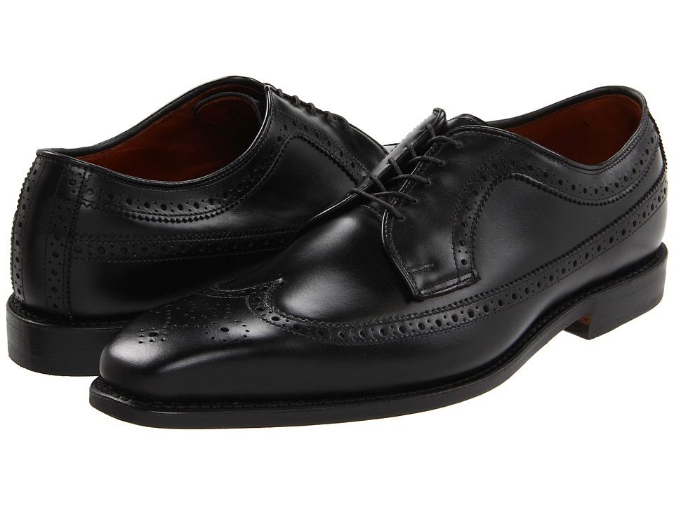 Allen-Edmonds - Larchmont (Black Custom Calf) Men's Lace Up Wing Tip Shoes