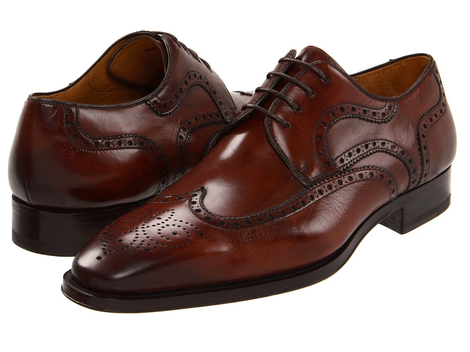 Magnanni - Sergio (Mid Brown) Men's Lace Up Wing Tip Shoes