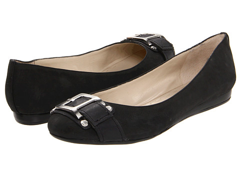 Nine West - Crisp (Black/Black Leather) Women's Slip on Shoes