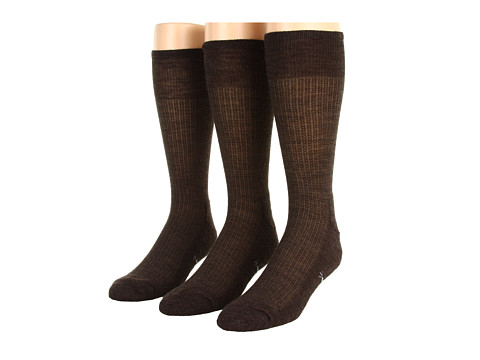 Smartwool - Nailhead Grid 3-Pair Pack (Chestnut Heather) Men's Crew Cut Socks Shoes