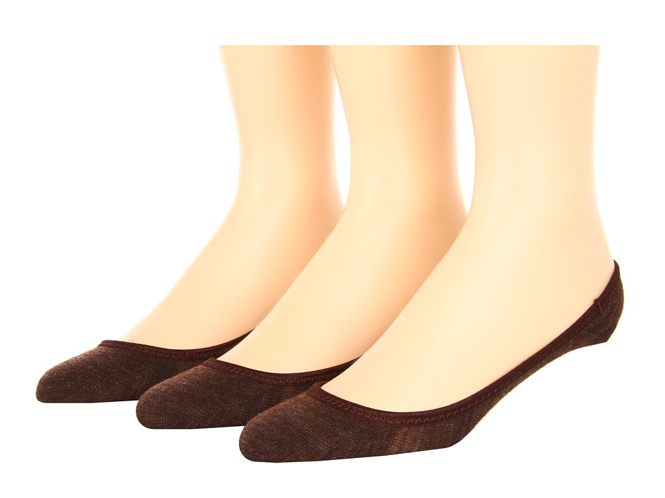 Smartwool - Secret Sleuth 3-Pack (Espresso Htr) Women's No Show Socks Shoes
