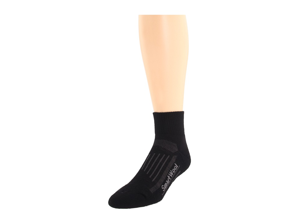 Smartwool - Walk Light Mini 3-Pack (Black) Quarter Length Socks Shoes