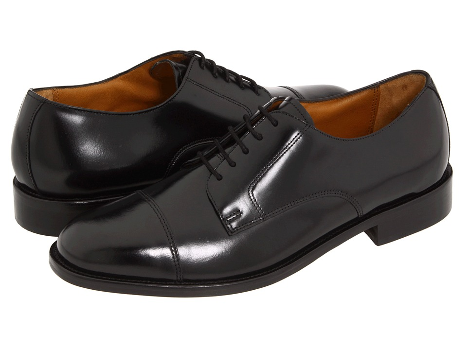 Bostonian - Andover (Black Leather) Men's Lace Up Cap Toe Shoes