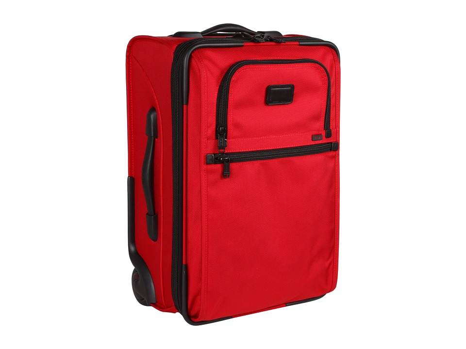 Tumi - International Zippered Expandable Carry-On (Red) Pullman Luggage