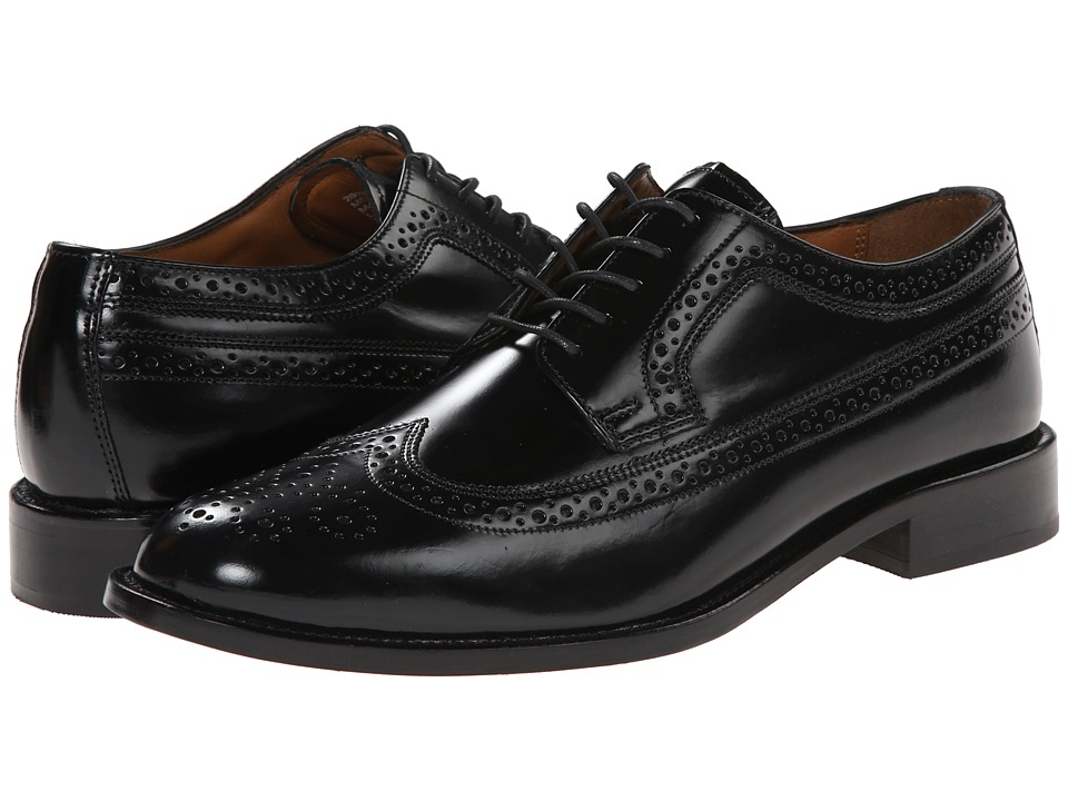 Bostonian - Malden (Black Leather) Men's Lace Up Wing Tip Shoes