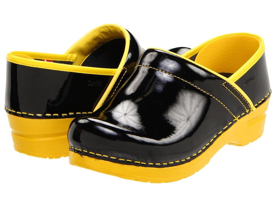 Sanita - Professional Xenia Patent (Yellow) Women's Clog Shoes