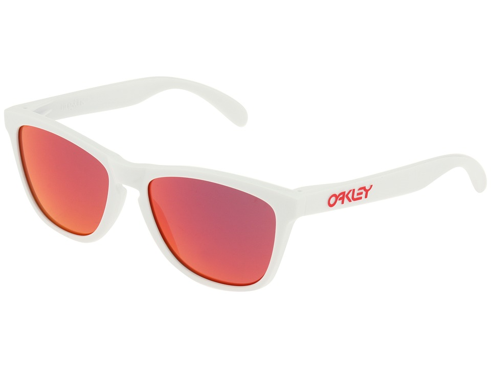 Oakley - Frogskins (Polished White/Ruby Iridium Lens) Sport Sunglasses