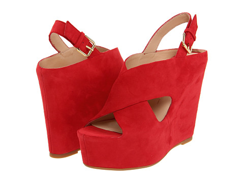 Dolce Vita Julie (Red) Women's Wedge Shoes