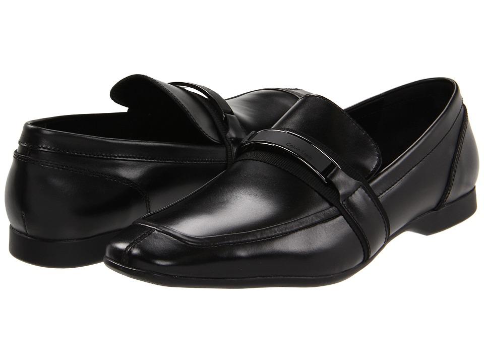 Calvin Klein - Shane (Black) Men's Slip-on Dress Shoes