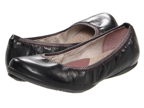 Hush Puppies - Kriya Skimmer (Black Leather) Women's Slip on Shoes