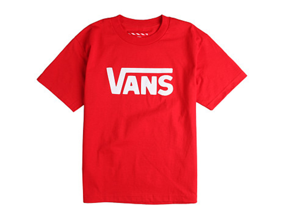 Vans Kids - Vans Classic Tee (Big Kids) (Red/White) Boy