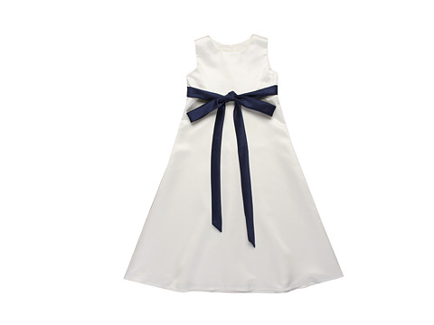 Us Angels - Skinny Satin Sash 4-14 (Little Kids/Big Kids) (Navy) Girl