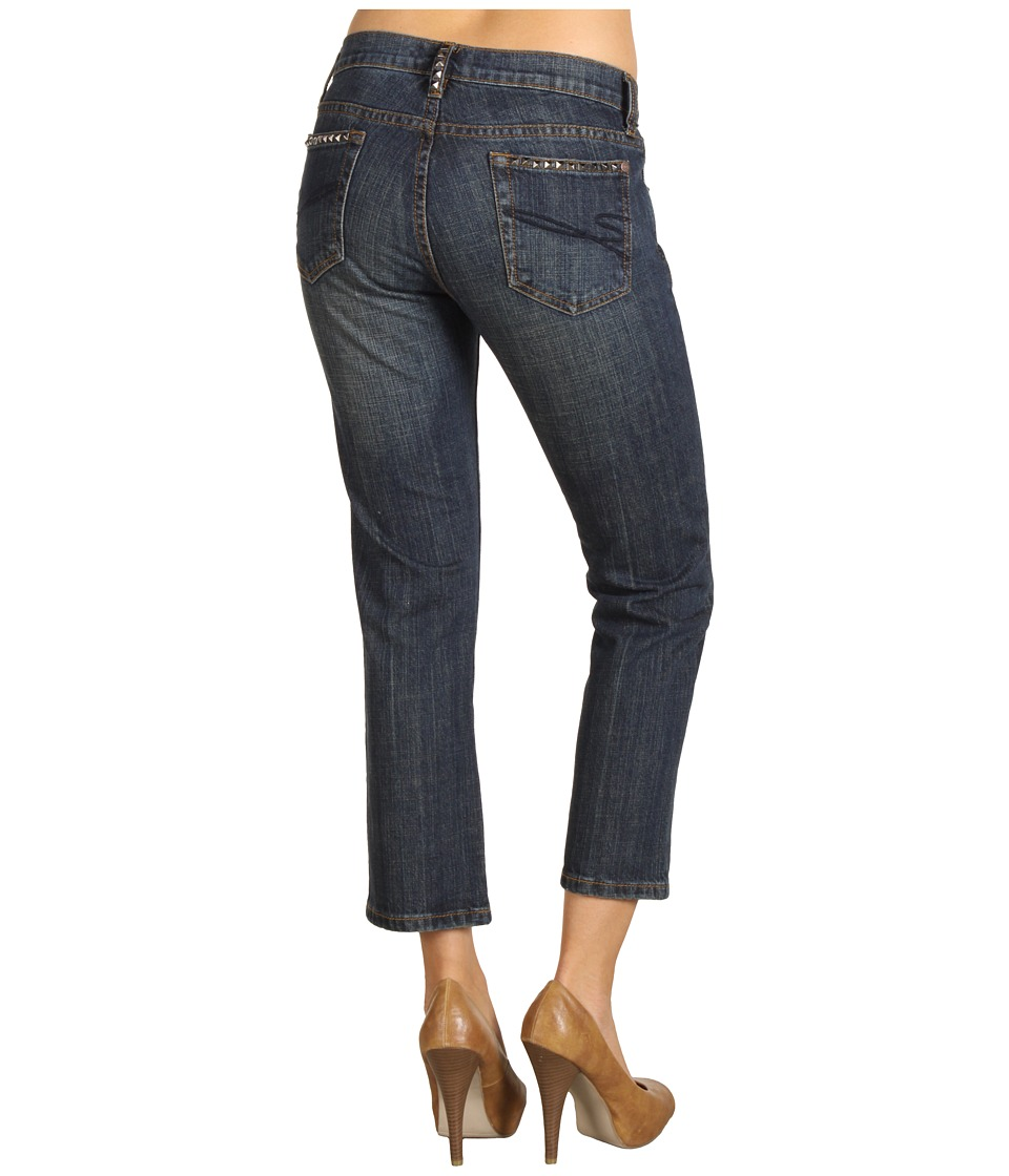 Stetson - Slim Leg Cropped Indigo Denim Jean (Blue) Women's Jeans