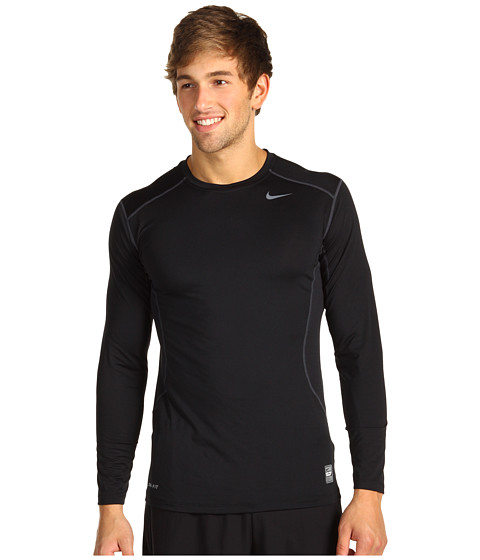 Nike - Pro Core Fitted Long Sleeve Top 2.0 (Black/Anthracite) Men