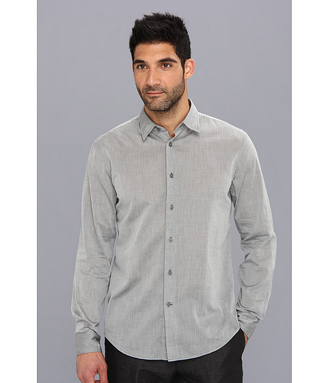 John Varvatos Star U.S.A. - Long Sleeve Oxford Shirt (Flagstone) Men