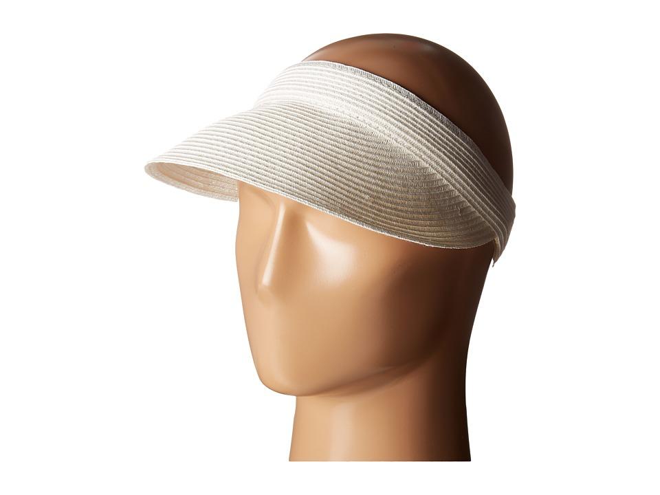 San Diego Hat Company - UBV003 Ultrabraid Small Brim Visor (White) Casual Visor