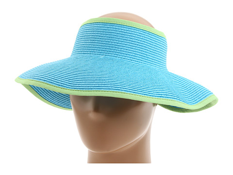 San Diego Hat Company - UBV002 Sun Hat Visor (Aqua/Lime) Casual Visor
