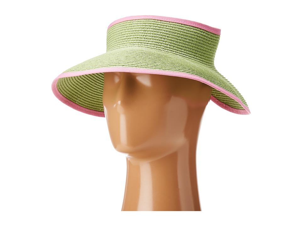 San Diego Hat Company - UBV002 Sun Hat Visor (Key Lime/Pink) Casual Visor