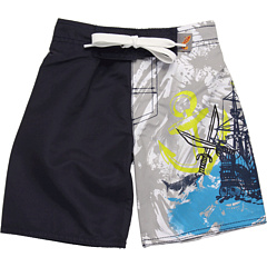 SALE! $14.99 - Save $29 on Charlie Rocket Pirate Swim Short (Toddler Little Kids Big Kids) (Navy) Apparel - 65.93% OFF $44.00