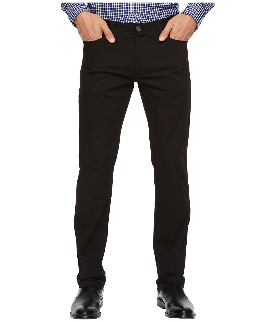 Calvin Klein - Slim Fit Sateen Pant (Black) Men's Clothing