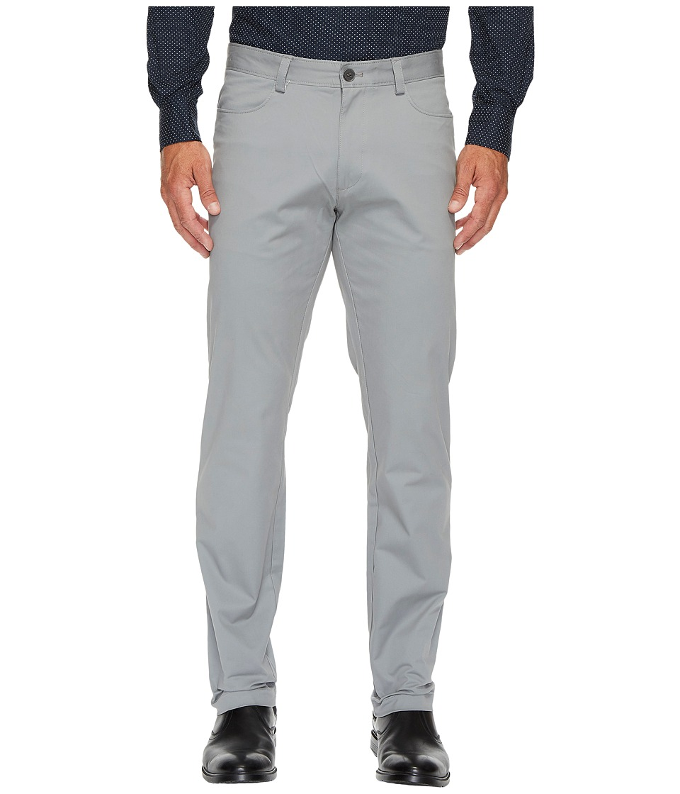 Calvin Klein - Slim Fit 4-Pocket Stretch Sateen Pant (Convoy) Men's Clothing