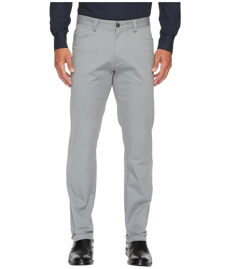 Calvin Klein - Slim Fit 4-Pocket Stretch Sateen Pant (Convoy) Men's Clothing