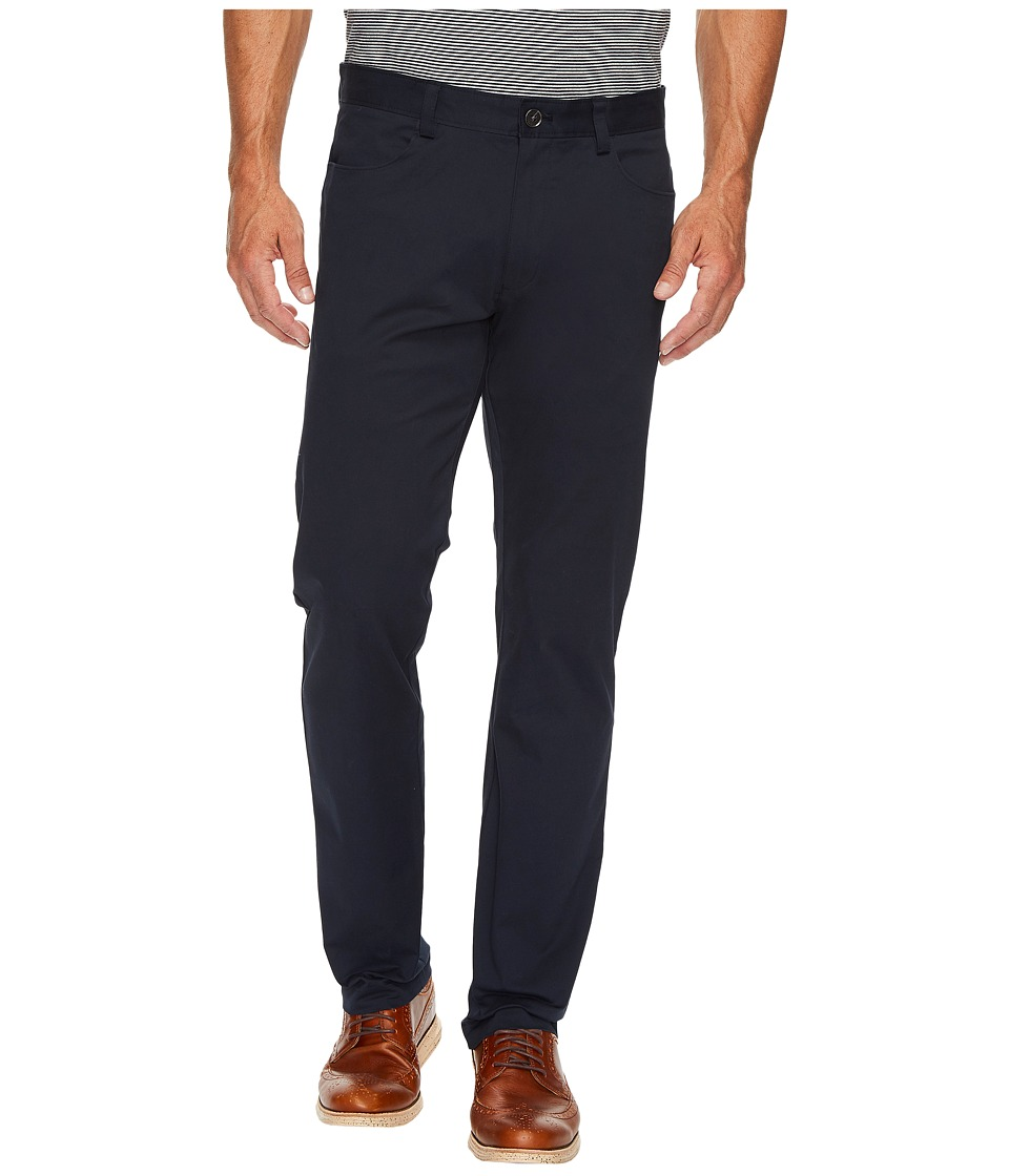 Calvin Klein - Slim Fit 4-Pocket Stretch Sateen Pant (Officer Navy) Men's Clothing