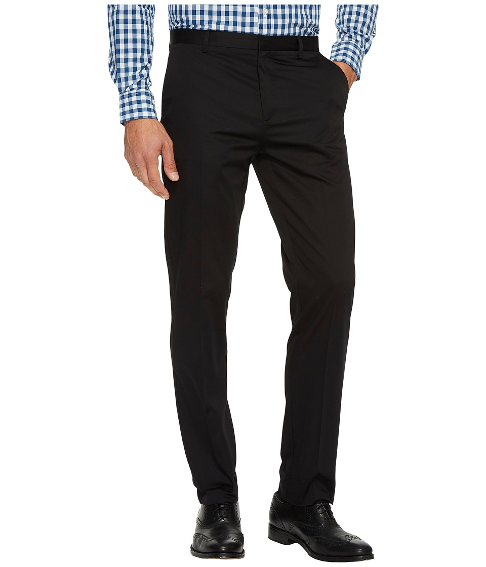 Calvin Klein - Slim Fit Refined Twill Pant (Black) Men's Clothing