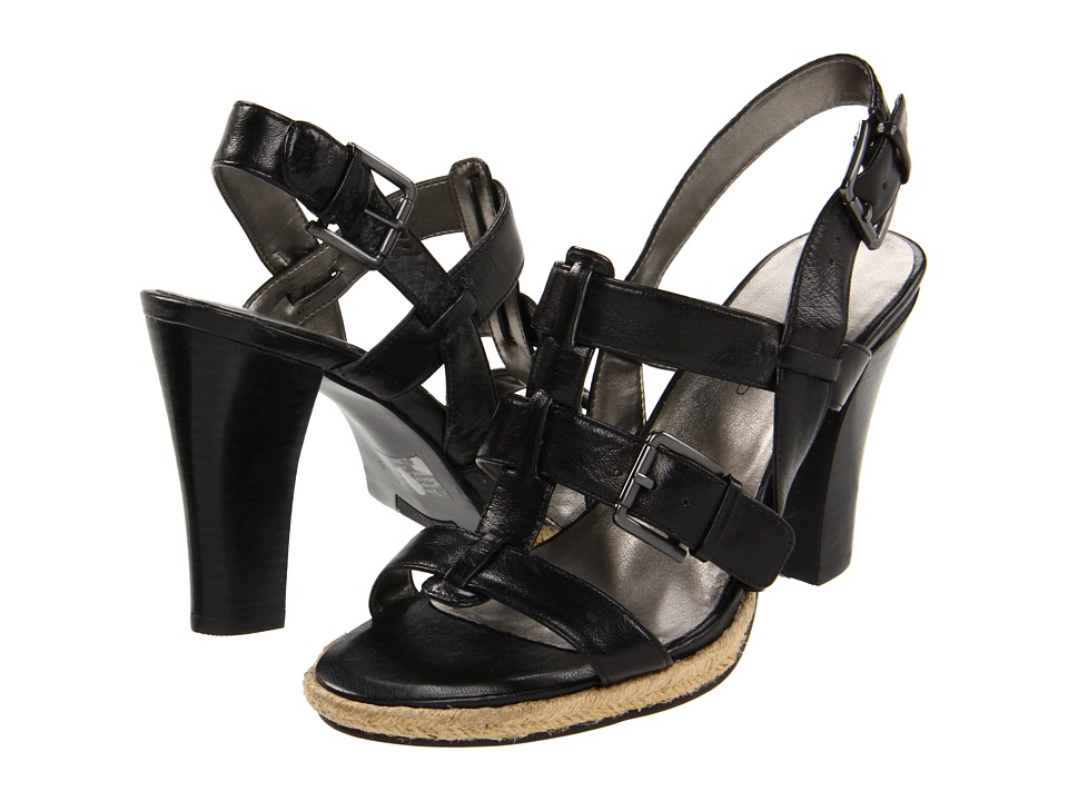 Bandolino - Irvanda (Black Leather) Women's Dress Sandals